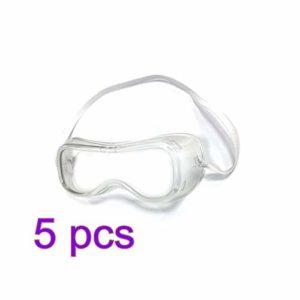 GGHKDD Lot de 5 lunettes de sécurité anti-buée pour travaux de construction, laboratoire, chimie, usage personnel ou professionnel