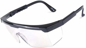 Grande taille, Lunettes de sécurité lunettes for une utilisation sur Lunettes avec Clear anti-buée résistant aux rayures Contourner lentilles et poignées anti-glissement, protection UV individuellemen