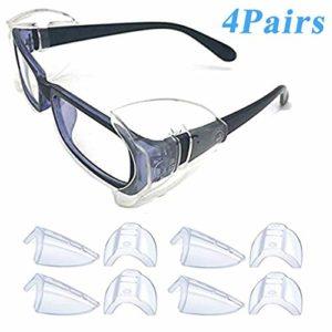 Lot de 3 paires de protections latérales pour lunettes de sécurité Transparent, Size, 4 paires L, 1