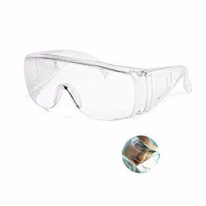 Lunettes anti-buée, lunettes anti-buée et anti-virus transparentes de sécurité, lentille de protection oculaire anti-éclaboussures pour hommes et femmes, lentilles anti-rayures (clair6)