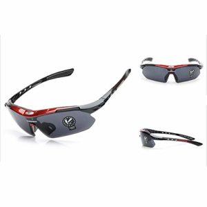Lunettes De Soleil De Sport Polarisées pour Hommes, Conduite Et équitation Lunettes De Soleil De Vélo Coupe-Vent en Plein Air UV400 Protection UV (3)