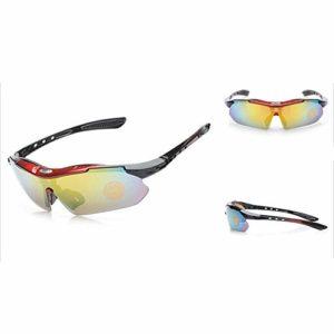 Lunettes De Soleil De Sport Polarisées pour Hommes, Conduite Et équitation Lunettes De Soleil De Vélo Coupe-Vent en Plein Air UV400 Protection UV (4)