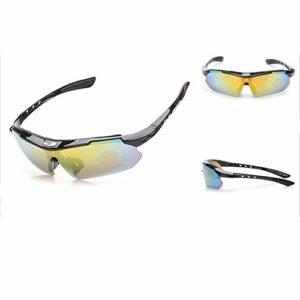 Lunettes De Soleil De Sport Polarisées pour Hommes, Conduite Et équitation Lunettes De Soleil De Vélo Coupe-Vent en Plein Air UV400 Protection UV (6)