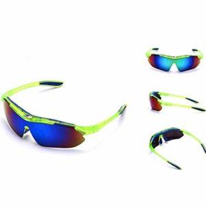 Lunettes De Soleil De Sport Polarisées pour Hommes, Conduite Et équitation Lunettes De Soleil De Vélo Coupe-Vent en Plein Air UV400 Protection UV (7)