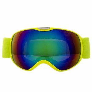 NA Accessoires pour Enfants Lunettes de Ski Double Couche Anti-buée Ski Masque Lunettes de Snowboard Patinage Coupe-Vent Lunettes de Soleil Ski Lunettes de Ski, jaune