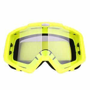 NA Accessoires pour lunettes de ski hors route coupe-vent et anti-poussière, Film transparent cadre vert
