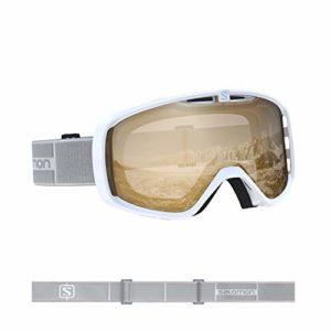 Salomon, Aksium Access, Masque de ski Unisexe, Blanc/Orange, L40846100