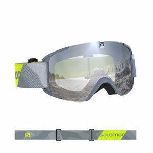 Salomon, Xview, Masque de ski unisexe, Gris-Jaune fluo/Universal Super White, L40844600