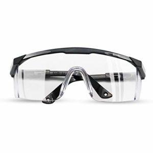 Sixminyo Lunettes de protection transparentes anti-buée et anti-buée anti-rayures pour les laboratoires, protection des yeux transparente, anti-poussière, anti-buée et anti-buée