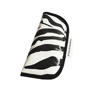 The Atelier de Mis Nubes Zebra Housse pour lunettes, blanc/noir, 16 pour femme