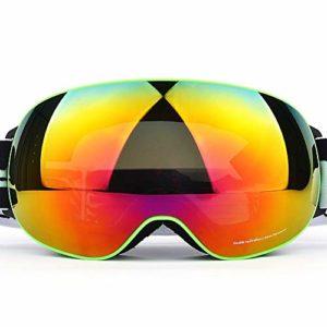 TveZz Mascarades de Ski, Les Enfants Myopie Lunettes de Ski Femme Anti-buée Double Couche extérieure Alpinisme Coupe-Vent Lunettes,C