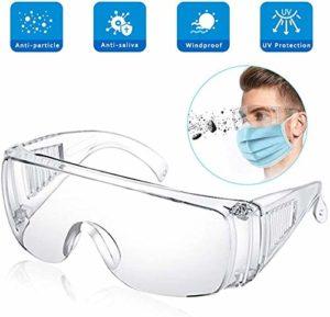 BESLIME Lunettes de protection Lentille anti-éclaboussures, antibuée, lunettes de protection avec nez souple, légères et confortables à porter