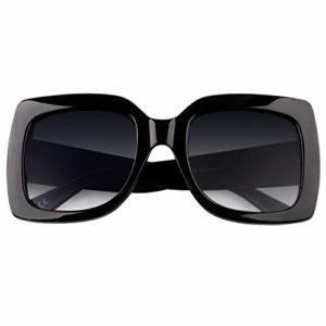 GQUEEN présente des lunettes larges de femmes à cadre carré, les lunettes de Soleil sont colorés et brillent, ils sont de la marque Fahsion Shades S904
