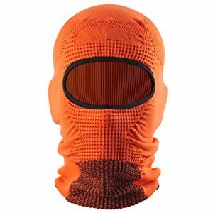 Hchao Masque de Ski Coupe-Vent Polyvalent, fabriqué en Fibre de Polyester, Confortable à Porter, réglable télescopique, a Une Absorption respirabilité exceptionnelle, Orange