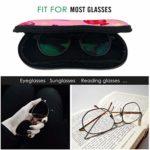 HHJJI Doux couleur fille coeur romantique bonbons filles lunettes de soleil étui à lunettes pour femmes léger portable néoprène fermeture éclair étui souple mince lunettes étui