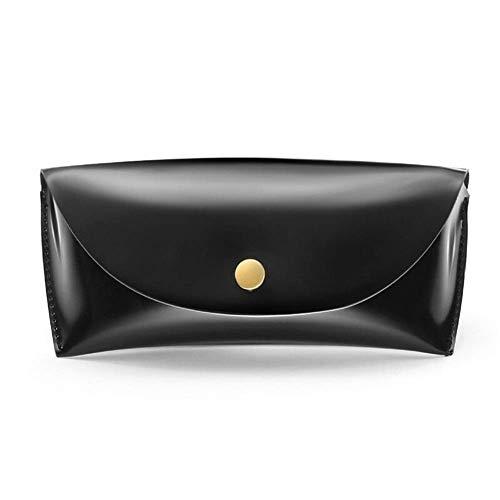 Lunettes de Soleil Cas Hommes Femmes Durable Cuir PU Boîte de Rangement Mode Noir Spectacle Sac Boîte Cas for Les Lunettes Pratique GAGEAA (Color : Black)