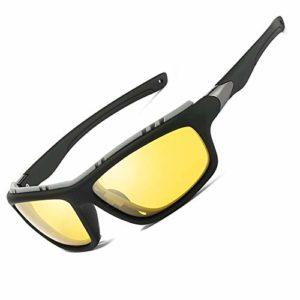 Lunettes de soleil polarisées pour hommes femmes/Cool Fishing Golf Cyclisme Le golf Conduite Pêche Escalade Ancien Lunettes Sports de plein air des lunettes de soleil (Night Vision Driving Glasses)