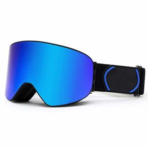 N / A Lunettes de Ski Anti-buée Doubles pour Adultes, Conception Ergonomique, lentille de Protection UV, Bande de Silicone Extra Large, Respirante et Confortable, résistante aux Chocs et aux Rayures