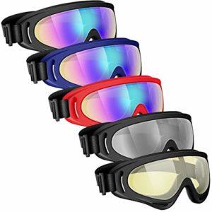 Powcan Lunettes de Ski Masques Snowboard,Motoneige Moto Lunettes X400 De Ski Goggles Protection Lunettes Lens Anti-poussière, UV Protection,Anti-Buée, Coupe-Vent pour Garçons et Filles, Hommes & Femme