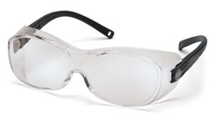 Pyramex Ots Safety Eyewear, Clear Lens With Black Temples