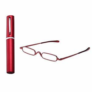 superior ZRL® Femmes hommes mini compact poids léger en métal de lecture lunettes lecteur w/portable Pocket clip aluminium case
