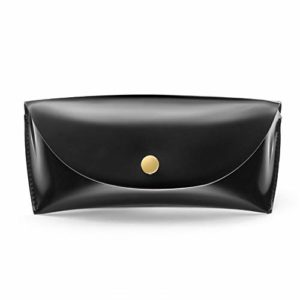UOYAN Étuis À Lunettes De Soleil Hommes Femmes Durable en Cuir PU Boîte De Rangement De Mode Noir Spectacle Sac Boîte Étui pour Lunettes Convenient (Color : Black)