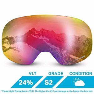 Wildhorn Outfitters Roca Lentille pour Lunettes de Ski sans Monture à Ajouter ou interchanger