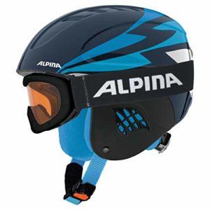 Alpina Sports Carat Set de Ski Unisexe pour Enfant Bleu Nuit 48-52