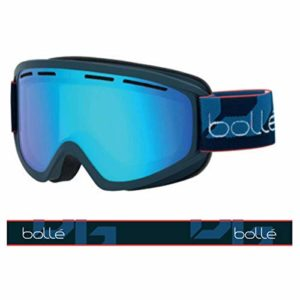 Bollé – SCHUSS – Masque de Ski – Mixte – Adulte – Navy Mat/ Light vermillon Bleu – M