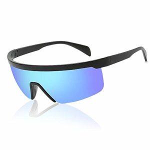 BSET BUY Lunettes de Soleil polarisées de Sport avec Protection UV400 pour Unisexe, Cadre incassable en TR90 pour activités en Plein air comme Le Cyclisme, la Course, l'escalade, la pêche, Le Golf.