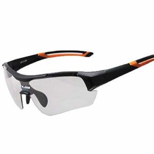 Cyclisme lunettes de sport Hommes Femmes Cyclisme Equitation Couleur Changeante Verres Coupe-Vent Protection UV Lunettes De Vélo En Plein Air Sport Lunettes De Soleil pour Hommes Femmes Outdoor Sport