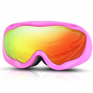 Deecreek Lunettes de Ski Anti-buée OTG pour Adultes, Jeunes et Jeunes neiges, Compatible avec Casque, Pink (VLT 13%)