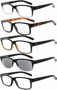 Eyekepper Lunettes de lecture vintage pour hommes-5 Pack comprenant des lunettes de lecture pour hommes Lecture en plein air,+2.25 Lunettes de lecture pour femmes