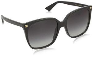 Gucci GG0022S 001 Montures de Lunettes, Noir (Black/Grey), 57 Femme