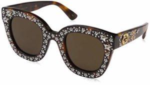Gucci GG0116S 003 Montures de Lunettes, Marron (Avana/Brown), 49 Femme