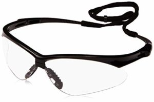 Jackson Safety 3000355 V30 Nemesis Safety Glasses Black Frame / Clear FogGard Plus Lens (19805)(25679) by Kimberly-Clark Professional
