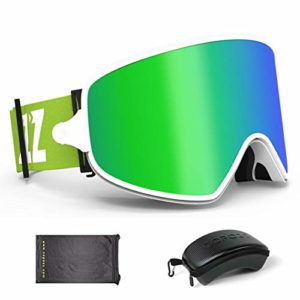 LHY Masques De Ski, Miroir Anti-Buée, Équipement Sportif 2 en 1 Brillant, Vision Nocturne, Outdoor, Ski, Sports, Alpinisme, Hommes Et Femmes,1