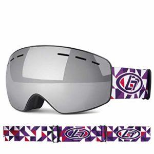Lunettes De Ski Enfant, Grandes Lunettes De Ski Sphériques Anti-Buée UV400 Double Couche, pour Le Ski De Plein Air (Enfants, Garçons Et Filles),C