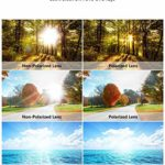 Lunettes de Soleil Polarisées Hommes Femmes Lunettes de Sport Lunettes de Cyclisme, Protection UV 400, Sports de Plein Air Pêche Ski Conduite Conduite Cyclisme Randonnée Camping Golf