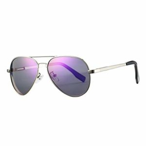 Lunettes de soleil polarisées pour hommes et femmes; cadres vintage/classiques/élégants; objectifs haute définition; golf/conduite/pêche/sports de plein air/lunettes de soleil tendance (【Pilot】Violet)