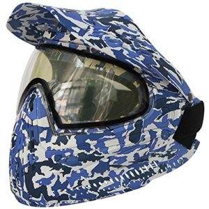 Masque De Paintball CS De Airsoft BBs Halloween Costume Accessoires Du Visage De La Protection Des Avec Appui Tactique Équipement Hors Lunettes Moto Ski Bleu (2nd generation half pack mask with brim)