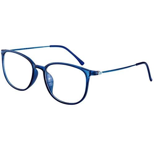 QAQA Progressive Multifocus Lunettes de Lecture, Lunettes Anti-lumière Bleu, Bleu Classique Anti Blocage de la lumière Cadre Lunettes for Hommes et Femmes (Color : Blue, Size : +3.0)