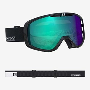 Salomon, Aksium Photo, Masque de ski unisexe, Noir-Blanc/AW Blue, L40516200