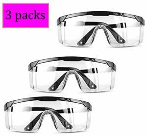 SN-RIGGOR Lot de 3 lunettes de protection anti-buée pour lunettes de sécurité