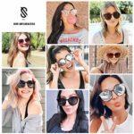 SOJOS Lunettes de Soleil Ronde pour Femme Fashion Nouveau Modèle SJ2067 avec clair Marron Cadre/Marron Polarisé Lentille