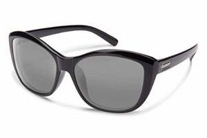 Suncloud Optics polarisées pour femme Skyline, femme, Black Frame/Gray Polycarbonate Lens