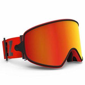 TSAUTOP Masque de Ski 2 en 1 avec magnétique à Double Usage for Objectif Ski Nocturne Anti-buée UV400 Snowboard Lunettes Hommes Femmes Lunettes de Ski Skis (Color : Red Lens)