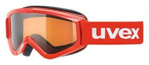 Uvex Speedy Pro Masque de Ski Enfant, Red/Lasergold, S2