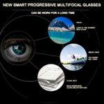 WXLSQ Zoom Intelligent Anti-Bleu Lunettes pour Les Personnes âgées, utilisé pour Anti-UV Ordinateur Lunettes de Lecture, Poids léger réglage Automatique (pour Les Hommes et Les Femmes),+ 1