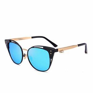 AMTSKR Lunettes de soleil avec lentilles colorées et yeux de chat pour femme en plein air, conduite en plein air, voyage